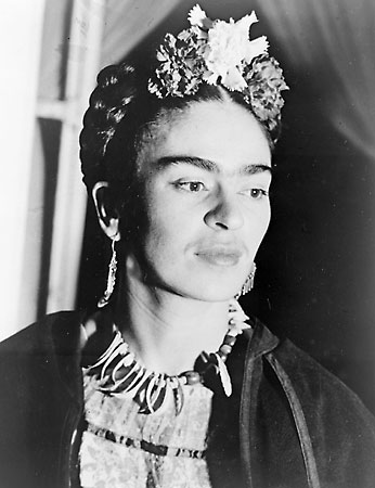 Frida Kahlo On Her Bed Reclining